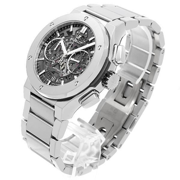 48回払いまで無金利 ウブロ アエロフュージョン チタニウム ブレスレット 528.NX.0170.NX 新品 メンズ 腕時計|ginzarasin|02