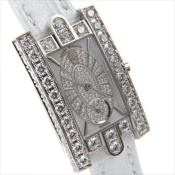 48回払いまで無金利 ハリーウィンストン アヴェニュー エリプティック AVEQHM21WW241 新品 レディース 腕時計