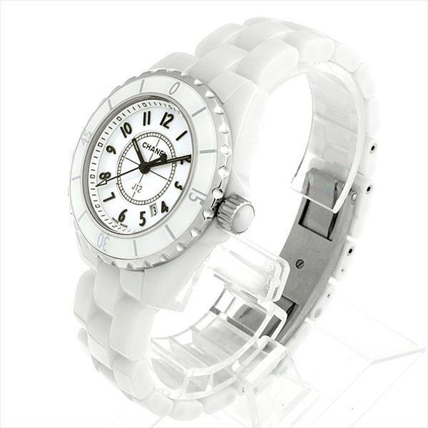 48回払いまで無金利 シャネル J12 白セラミック H0968 新品 レディース 腕時計|ginzarasin|02