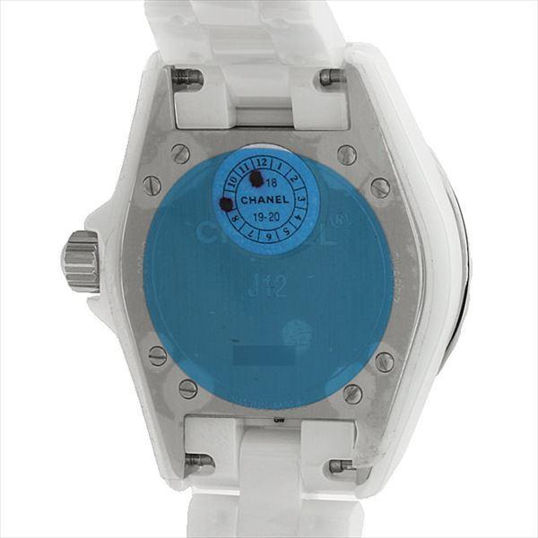 48回払いまで無金利 シャネル J12 白セラミック H0968 新品 レディース 腕時計|ginzarasin|03