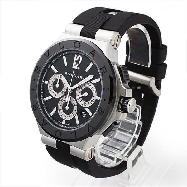 48回払いまで無金利 ブルガリ ディアゴノ セラミック DG42BSCVDCH 新品 メンズ 腕時計48回払いまで無金利|ginzarasin|02