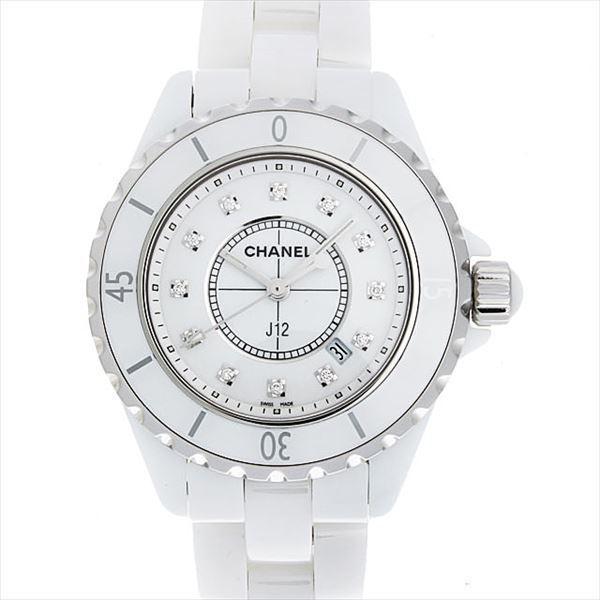 48回払いまで無金利 シャネル J12 白セラミック 12Pダイヤ H1628 新品 レディース 腕時計|ginzarasin