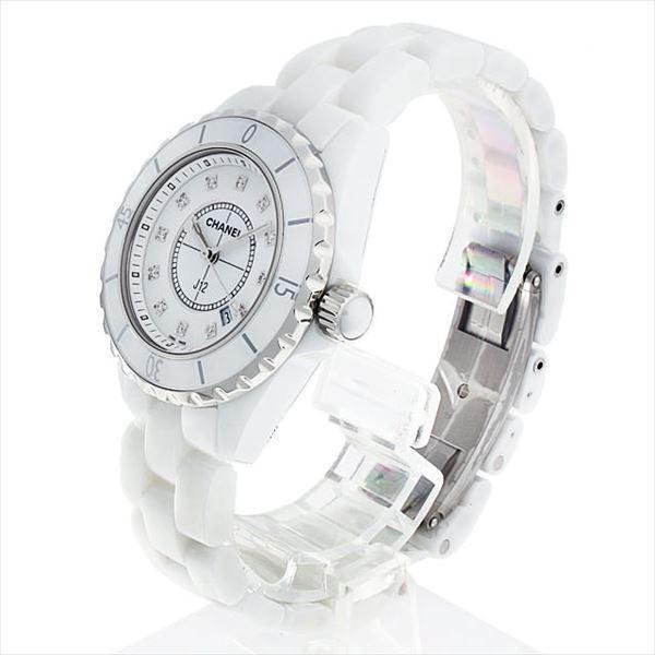 48回払いまで無金利 シャネル J12 白セラミック 12Pダイヤ H1628 新品 レディース 腕時計|ginzarasin|02