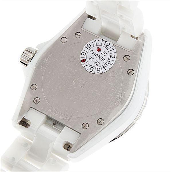 48回払いまで無金利 シャネル J12 白セラミック 12Pダイヤ H1628 新品 レディース 腕時計|ginzarasin|03