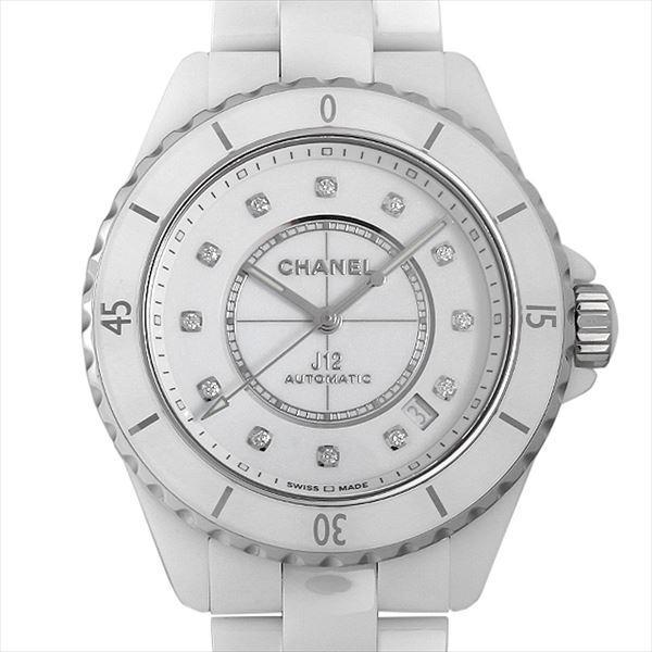 48回払いまで無金利 シャネル J12 白セラミック 12Pダイヤ キャリバー12.1 H5705 新品 メンズ 腕時計|ginzarasin