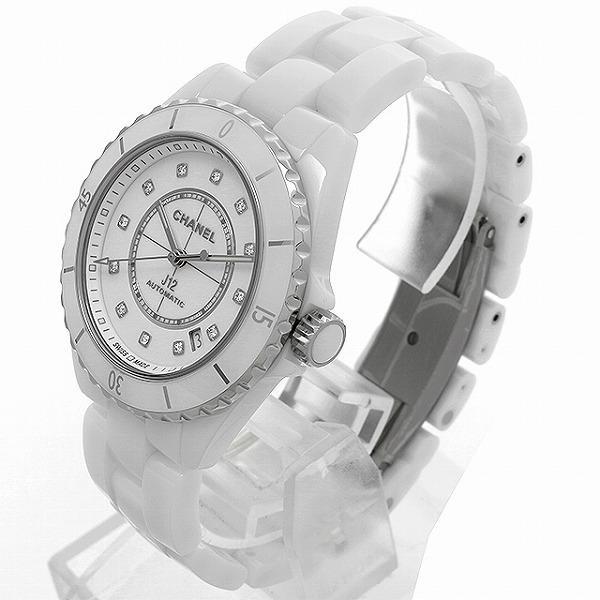 48回払いまで無金利 シャネル J12 白セラミック 12Pダイヤ キャリバー12.1 H5705 新品 メンズ 腕時計|ginzarasin|02