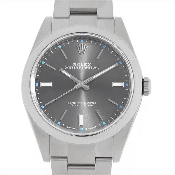promo code fe397 9f4fe 48回払いまで無金利 ロレックス オイスターパーペチュアル39 114300 ダークロジウム 中古 メンズ 腕時計
