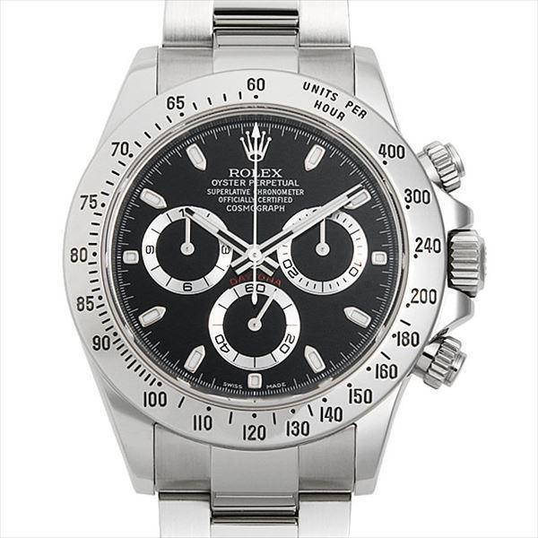 60回払い無金利ロレックスコスモグラフデイトナ116520ブラックM番中古メンズ腕時計