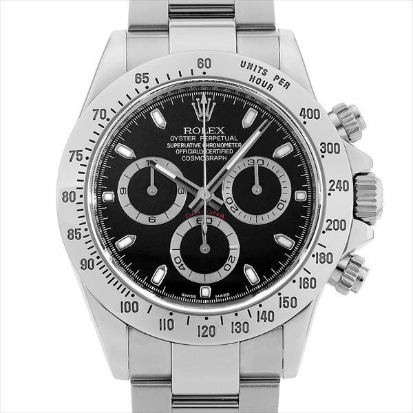 60回払い無金利ロレックスコスモグラフデイトナ116520ブラックF番中古メンズ腕時計