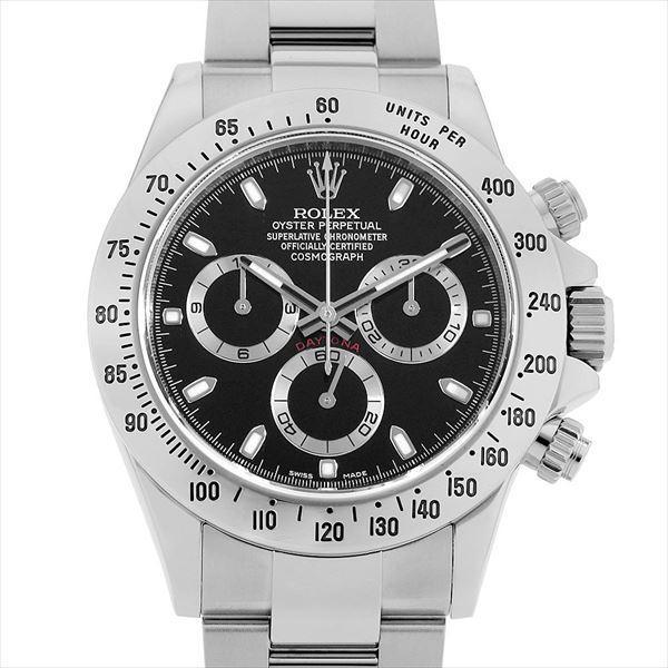 60回払い無金利ロレックスコスモグラフデイトナ116520ブラックランダムシリアル中古メンズ腕時計