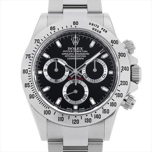 60回払い無金利ロレックスコスモグラフデイトナ116520ブラック/新クラスプランダムシリアル中古メンズ腕時計