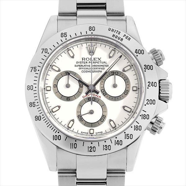 60回払い無金利ロレックスコスモグラフデイトナ116520ホワイト/アイボリー(クリームダイアル)K番中古メンズ腕時計
