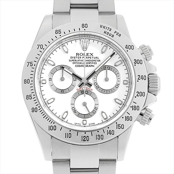 60回払い無金利ロレックスコスモグラフデイトナ116520ホワイトランダムシリアル中古メンズ腕時計