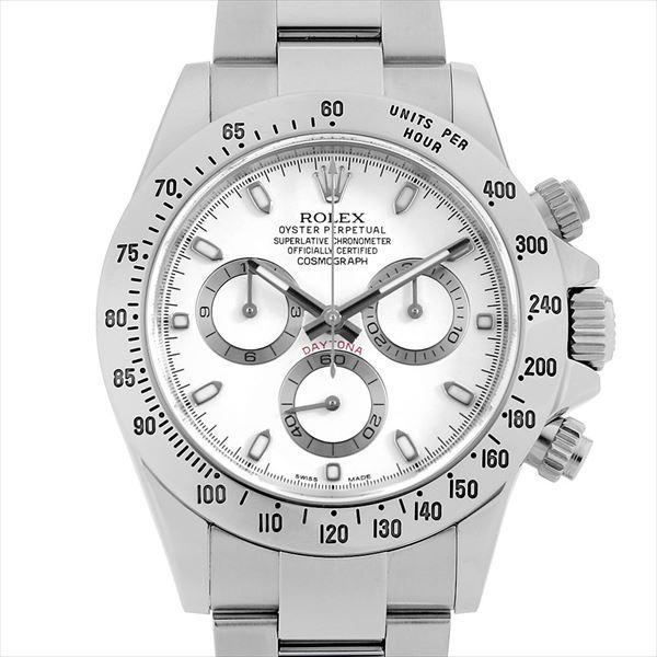 60回払い無金利ロレックスコスモグラフデイトナ116520ホワイトF番中古メンズ腕時計