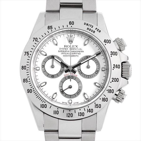 60回払い無金利ロレックスコスモグラフデイトナ116520ホワイトM番中古メンズ腕時計