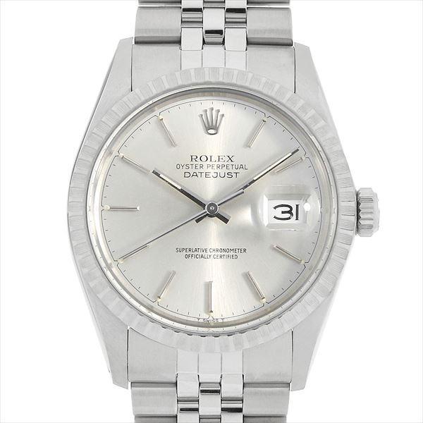 outlet store 9f109 0b8e6 48回払いまで無金利 ロレックス デイトジャスト 16030 シルバー/バー 64番 中古 メンズ 腕時計
