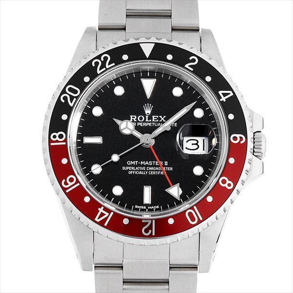 60回払い無金利ロレックスGMTマスターIIファットレディ1676084番中古メンズ腕時計