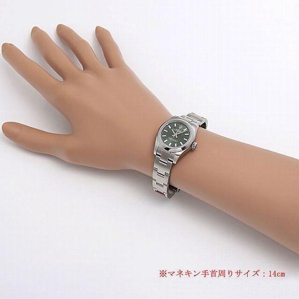 48回払いまで無金利 ロレックス オイスターパーペチュアル 176200 オリーブグリーン/ホワイトバー ランダムシリアル 中古 レディース 腕時計