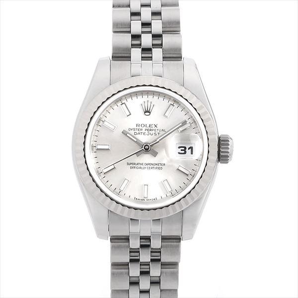 48回払いまで無金利 ロレックス デイトジャスト 179174 シルバー/バー D番 中古 レディース 腕時計