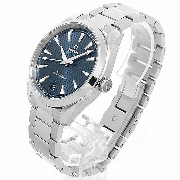 48回払いまで無金利 オメガ シーマスター アクアテラ コーアクシャルマスター クロノメーター 41MM 220.10.41.21.03.001 中古 メンズ 腕時計|ginzarasin|02