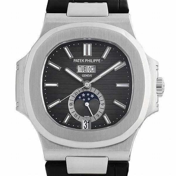 60回払い無金利パテックフィリップノーチラスアニュアルカレンダームーンフェイズ5726A-001中古メンズ腕時計