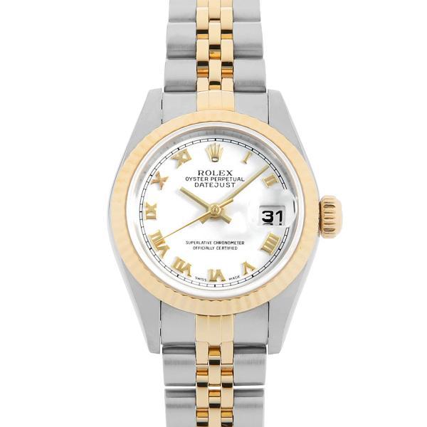 48回払いまで無金利 ロレックス デイトジャスト K番 79173 ホワイト/ローマ 中古 レディース 腕時計|ginzarasin