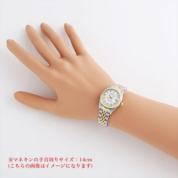 48回払いまで無金利 ロレックス デイトジャスト K番 79173 ホワイト/ローマ 中古 レディース 腕時計|ginzarasin|04