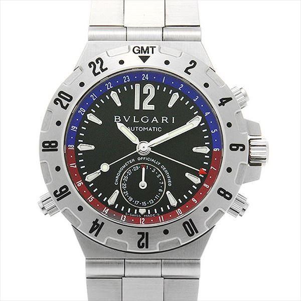 48回払いまで無金利 ブルガリ ディアゴノ プロフェッショナル GMT GMT40SSD 中古 メンズ 腕時計|ginzarasin