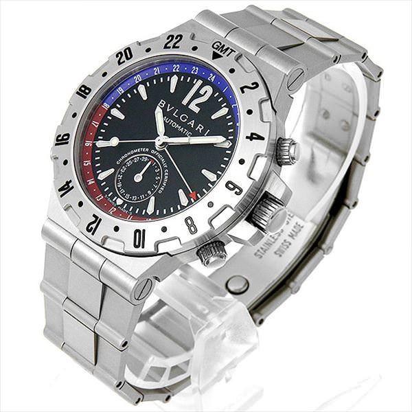48回払いまで無金利 ブルガリ ディアゴノ プロフェッショナル GMT GMT40SSD 中古 メンズ 腕時計|ginzarasin|02