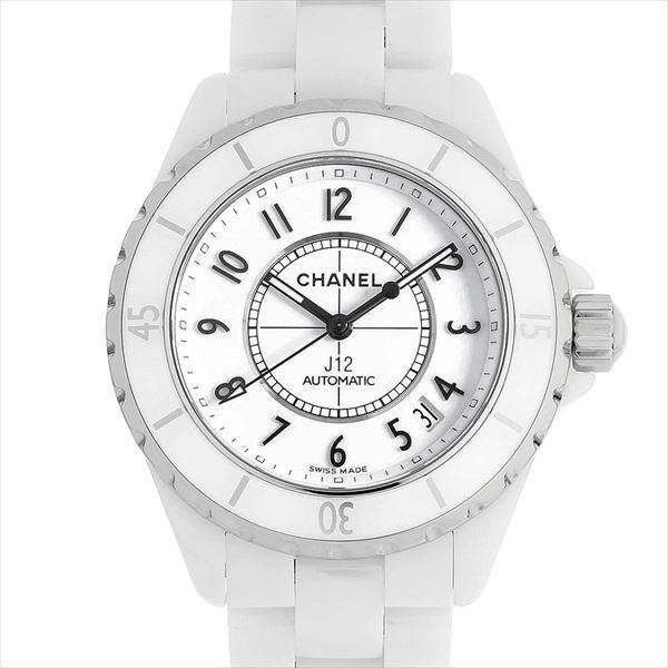 9f98ce346750 48回払いまで無金利 シャネル J12 白セラミック H0970 中古 メンズ 腕時計|ginzarasin ...