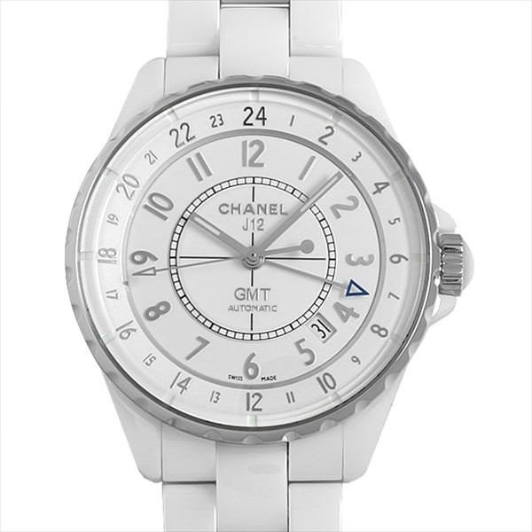 7f973c9b1d93 48回払いまで無金利 シャネル J12 GMT 白セラミック H3103 中古 メンズ 腕時計  ...