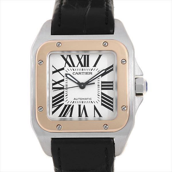 48回払いまで無金利 カルティエ サントス100 MM W20107X7 中古 ボーイズ(ユニセックス) 腕時計|ginzarasin