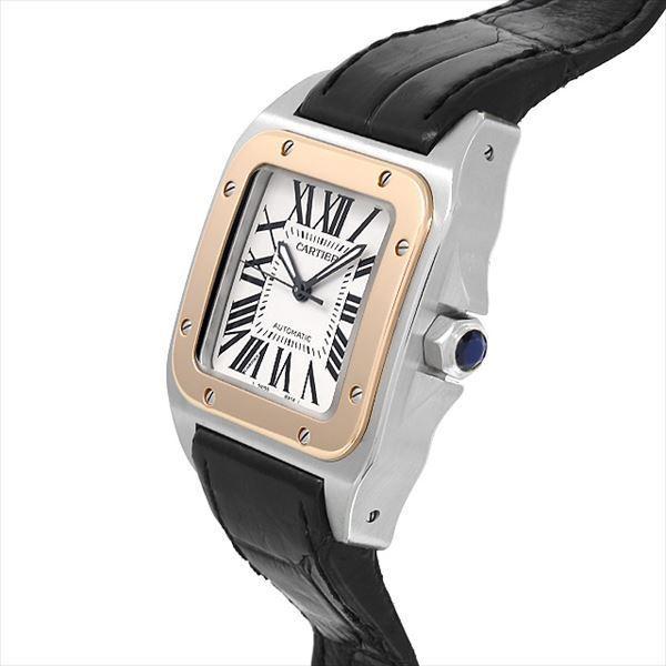 48回払いまで無金利 カルティエ サントス100 MM W20107X7 中古 ボーイズ(ユニセックス) 腕時計|ginzarasin|02