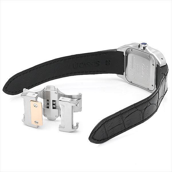 48回払いまで無金利 カルティエ サントス100 MM W20107X7 中古 ボーイズ(ユニセックス) 腕時計|ginzarasin|03