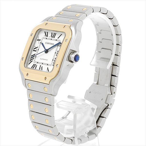 48回払いまで無金利 カルティエ サントス ドゥ カルティエ MM W2SA0007 中古 ボーイズ(ユニセックス) 腕時計|ginzarasin|02
