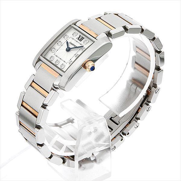 buy popular 9be4e 52599 48回払いまで無金利 カルティエ タンクフランセーズ 11Pダイヤ WE110004 中古 レディース 腕時計