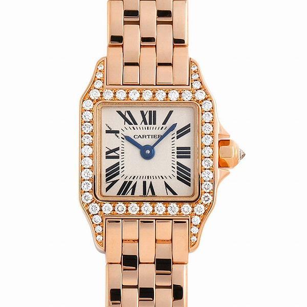 48回払いまで無金利 カルティエ ミニサントス ドゥ モワゼル ミニ ベゼルダイヤ WF9011Z8 中古 レディース 腕時計|ginzarasin