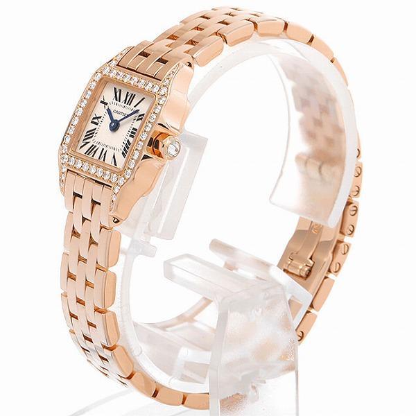 48回払いまで無金利 カルティエ ミニサントス ドゥ モワゼル ミニ ベゼルダイヤ WF9011Z8 中古 レディース 腕時計|ginzarasin|02