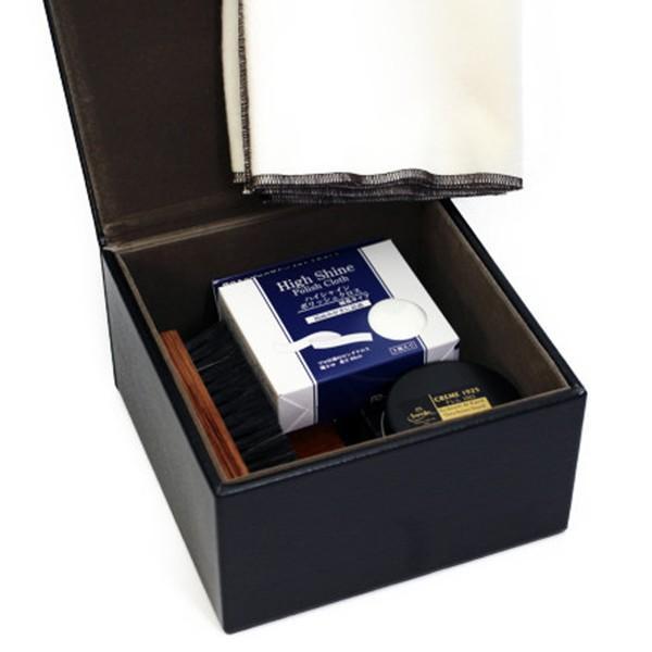 靴磨きセット サフィール ノワール  【デラックスハイシャインセット】 シューケアセット ボックス BOX 革 手入れ|ginzatiger|04