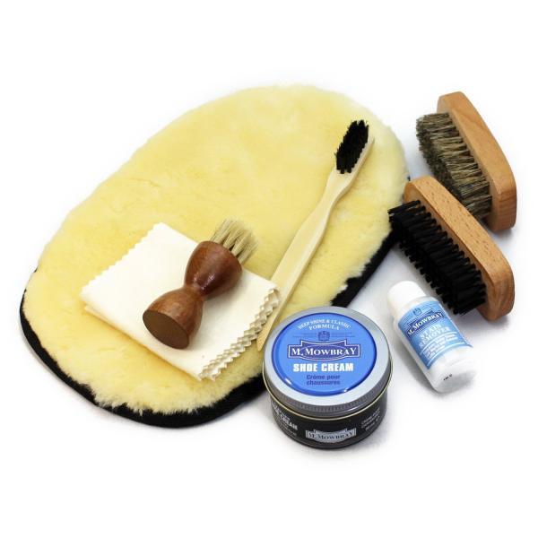 靴磨きセット シューケアセット モウブレイ  M.MOWBRAY  モゥブレィx 銀座大賀靴工房ボックス(紙箱) 革靴用 スターターセット|ginzatiger|04