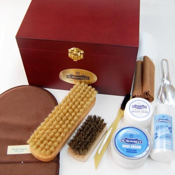 靴磨きセット M.MOWBRAY トラディショナルケアセット エム モゥブレィ モウブレイ シューケアセット(木箱 シューケア ボックス BOX) 革靴 手入れ|ginzatiger|02