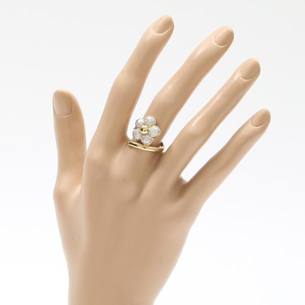 【中古】 [ジュエリー] ダイヤリング ゴールド フラワー K18YG/ダイヤモンド0.7ct 12号 指輪 値下げ