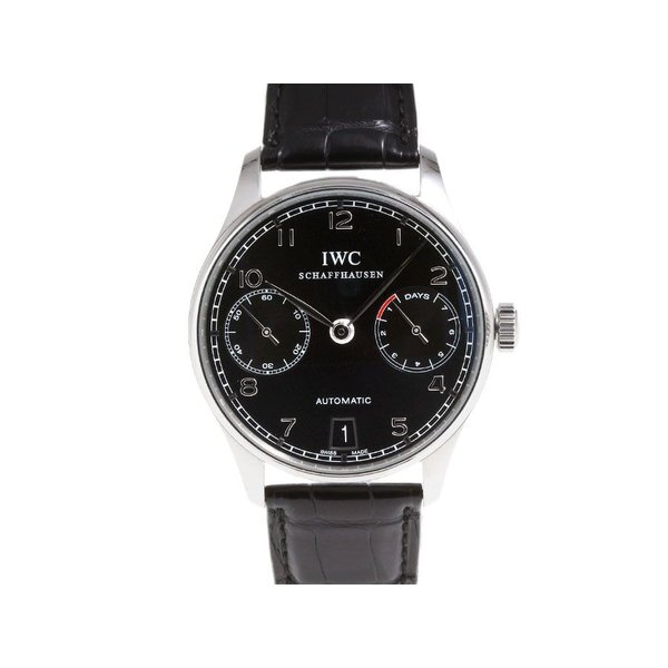 sneakers for cheap a35b6 ec021 IWC ポルトギーゼ 7DAYS IW500109 SS 革 自動巻 裏スケ 中古