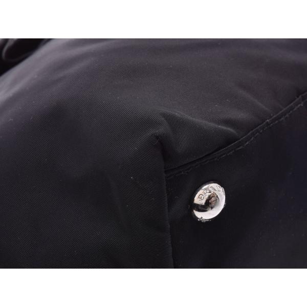 プラダ ハンドバッグ リボン 黒 BN1601 レディース ナイロン/ナッパ Bランク PRADA ギャラ  銀蔵