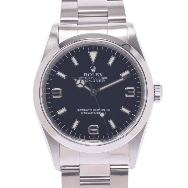 ROLEXロレックスエクスプローラー114270メンズSS腕時計自動巻き黒文字盤Aランク中古銀蔵