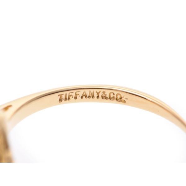 ティファニー フラワーモチーフリング #11 レディース YG 2.6g 指輪 Aランク 美品 TIFFANY&CO 中古 銀蔵