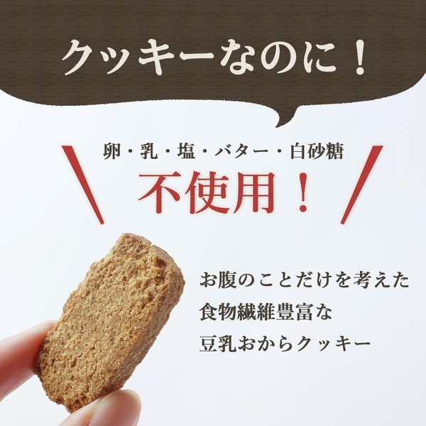 スイーツ グルメ 玄米ブラン 豆乳おからクッキー 500g(250g×2袋) チャック付き おからパウダー お菓子  メール便A TSG 新商品 得トクセール|ginzou|04