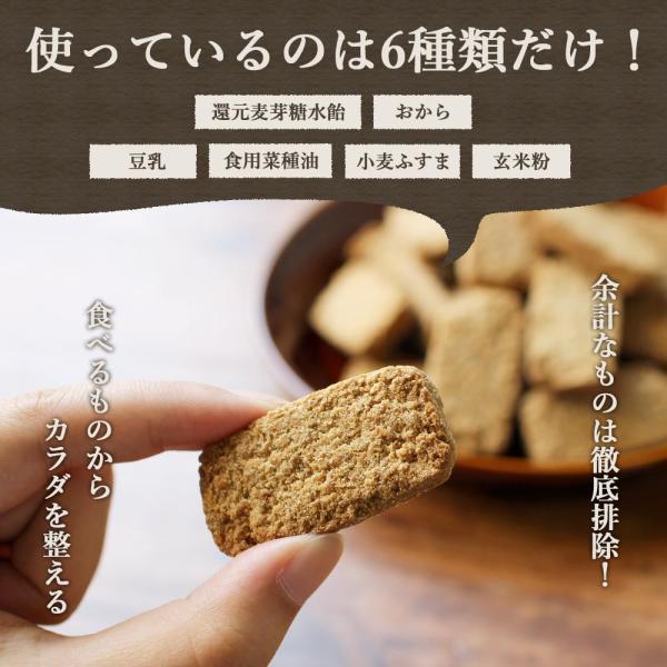 スイーツ グルメ 玄米ブラン 豆乳おからクッキー 500g(250g×2袋) チャック付き おからパウダー お菓子  メール便A TSG 新商品 得トクセール|ginzou|08