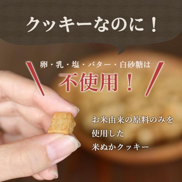 お米由来 コロコロ米ぬかクッキー 400g(200g×2袋) チャック付き すごくかたいシリーズ  お菓子 おかし 糠 米菓子 メール便A WKP|ginzou|04