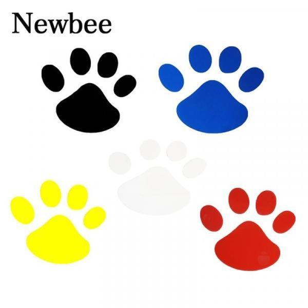 バイク用品 Newbee 4 ピース Hond 猫デカール子犬爪車の自動車ステッカー犬フットプリントフートためプリントオートバイスタイリングパンダ足バンパードア gioiore